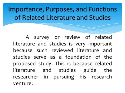 exle of review of related literature in a research paper definition review of related literature