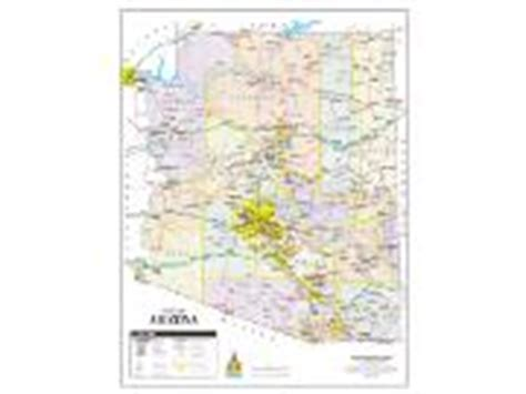 arizona milepost map wide world of maps wall maps