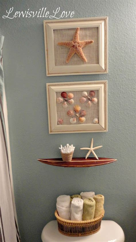beachy bathroom ideas lewisville theme bathroom reveal