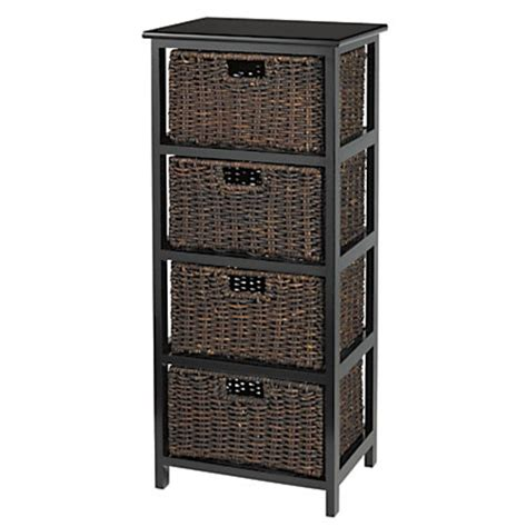 wicker storage drawers chest of drawers black 4 drawer lingerie storage bedroom