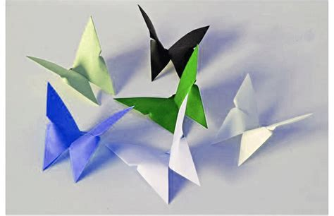 How To Make Butterfly From Paper - origami of butterfly comot
