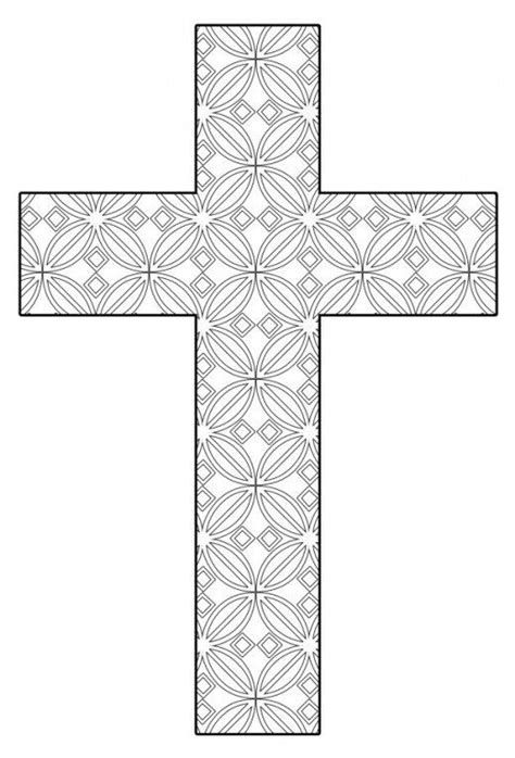 printable christian ornaments free printable cross coloring pages craft free