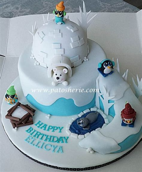 Winter Wonderland cake at Ski Dubai   Cake by Patosherie   CakesDecor