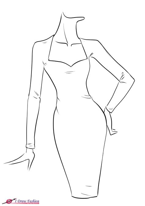 drawing templates for how to draw fringe dress tutorial step 1 png 1 654 215 2 339