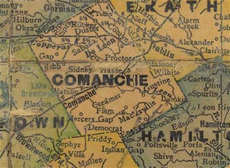 comanche texas map comanche texas historic comanche