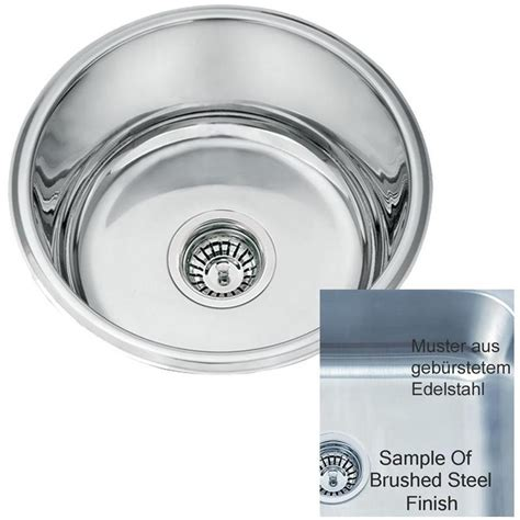 Evier Rond Inox by 201 Vier Rond Inox Sous Plan 1 Bac En Acier Bross 201 L45a Bs