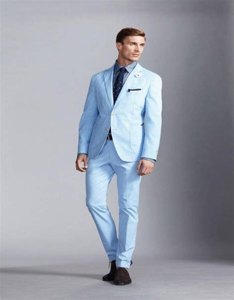 light blue wool tie mens light blue suit jacket dress yy