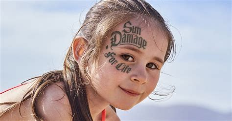 tattoo sun cream uk shocking caign reveals just how much damage the sun is