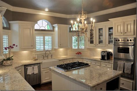 Light Colored Granite With White Cabinets by Light Colored Granite Bianco Romano Colored