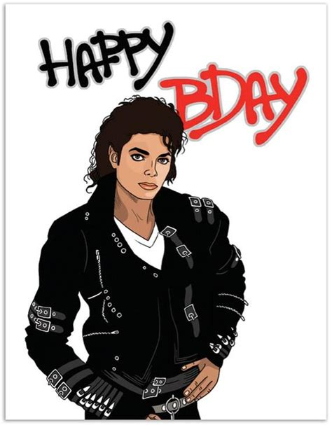 Michael Jackson Birthday Cards Printable item 889 michael jackson birthday card make it bad