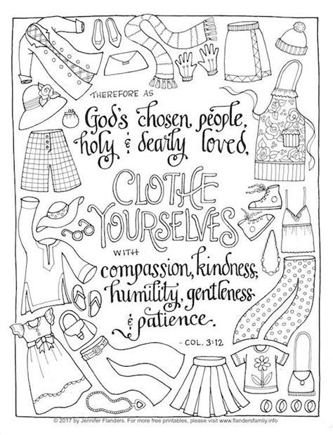 christian unity coloring pages clothe yourself with humility coloring page flanders