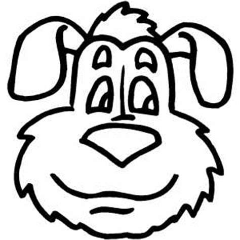 coloring pages of dog head smiling dog head coloring page