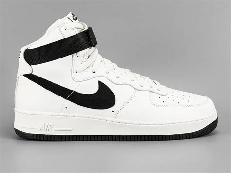 nike air force  high white black sneaker bar detroit