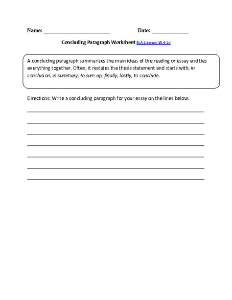 4th grade writing paragraphs worksheets worksheets for all