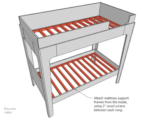 Pneumatic Addict How To Build Modern Bunk Beds Bunk Bed Support