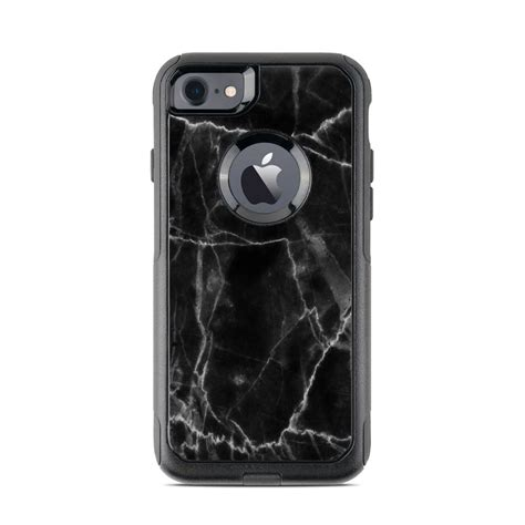 otterbox commuter iphone  case skin black marble  marble collection decalgirl