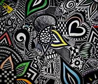 Doodle Art Design Colourful Arts