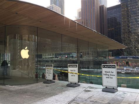 la espectacular apple store de chicago tiene un fallo de