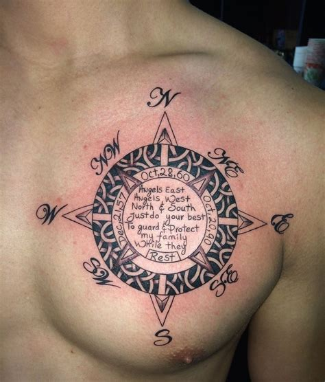 chest tattoo names designs 50 beautiful compass designs and meanings