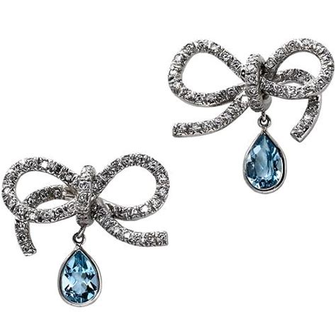 Bag Borrow Or The In Designer Gems by Vera Wang Aqua Bow Earrings Vera Wang Accessories Bag
