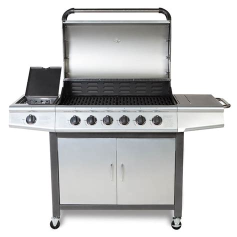 Gas Barbeque W Side Burner Pemanggang Barbeque Fh 12068 3 cosmogrill 6 1 gas burn grill bbq barbecue w side burner storage ebay