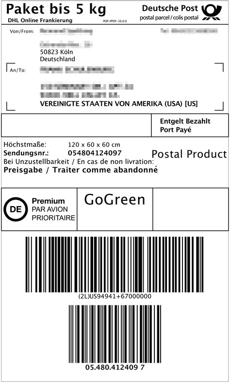 Parcel Number Format Bindrdn Waterefficiency Co Dhl Shipping Label Template