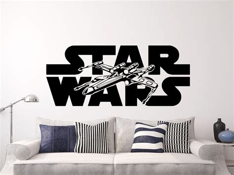 wars room decals wars wall decals xwing vinyl sticker decal logo x wing