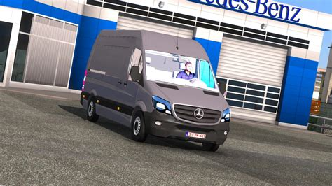 mod euro truck simulator 2 game modding mercedes benz sprinter cdi311 2014 mod euro truck
