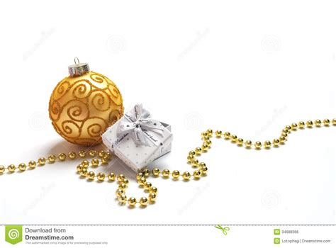 yellow soft christmas gift decorations and gift stock photo image 34688366