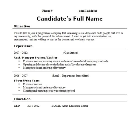 Sle Resume Without High School Diploma High School Diploma Description For Resume High School Diploma Resume Resume Template High