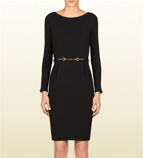 gucci belted dress in black lyst