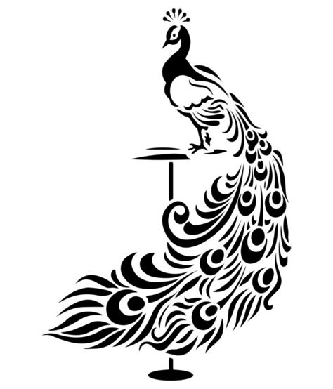 black and white wall stickers veldeco peacock wall stickers black buy veldeco