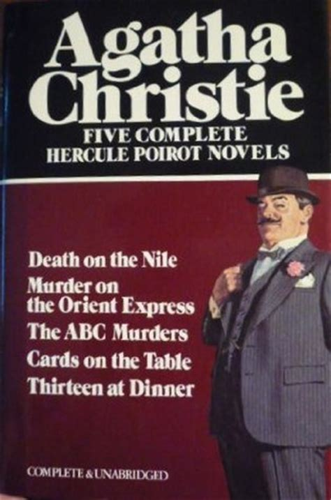 Novel Agatha Christie The Best Of Hercule Poirot Hardcover five complete hercule poirot novels abc murders cards on the table on the nile