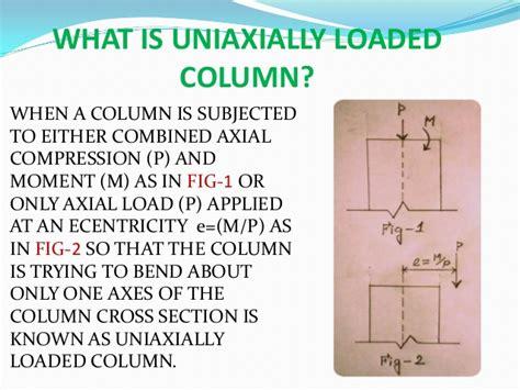 pattern loading definition uniaxial column design