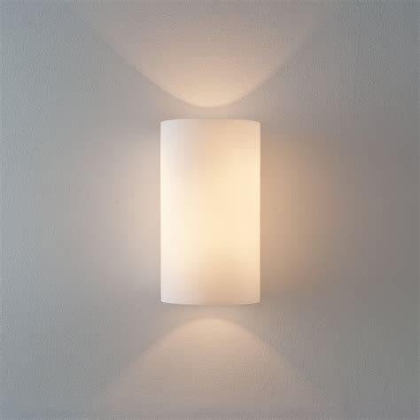 Wall Lights Cyl 260 0884 White Glass Interior Lighting Wall Lights