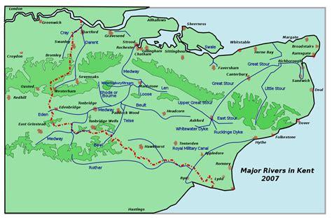 map uk kent rivers of kent