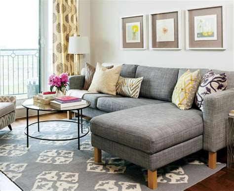 sectional sofa in small living room 20 of the best small living room ideas grey sectional