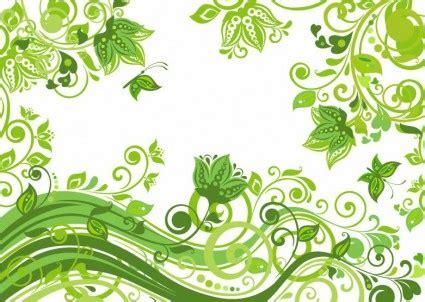 ilustrasi vektor abstrak latar belakang bunga hijau vektor