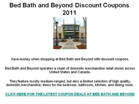 Bed Bath And Beyond Discount Gift Card - bed bath and beyond discount coupons 2011 authorstream