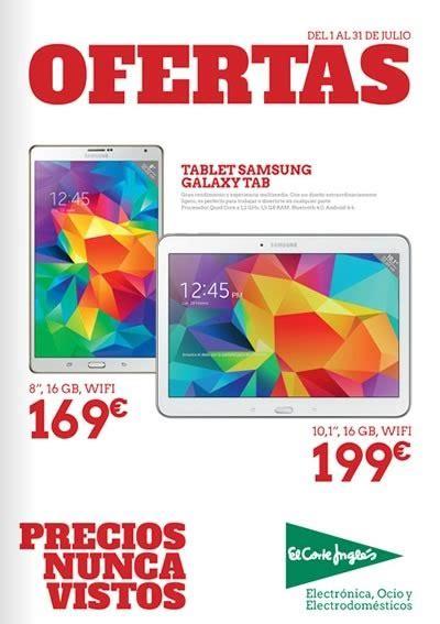 tablets del corte ingles tablets baratas en el corte ingl 233 s cat 225 logo de ofertas