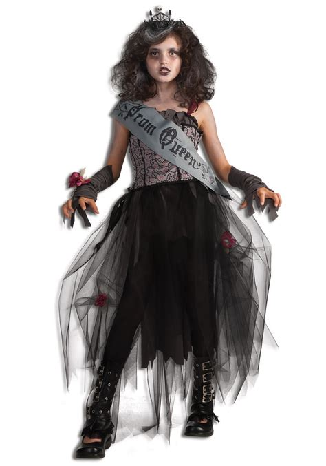 Skull Home Decorations by Girls Goth Prom Queen Costume