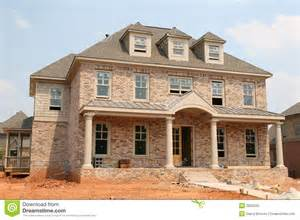 Home Builder Free by New Brick Home Construction Royalty Free Stock Photo