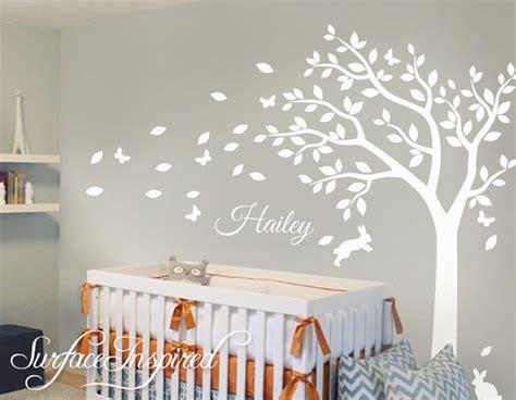 kinderzimmer aufkleber baum nursery wall decals white tree wall decal large tree