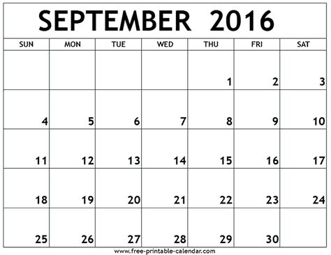 printable monthly calendar 2016 india september 2016 printable calendar printables pinterest