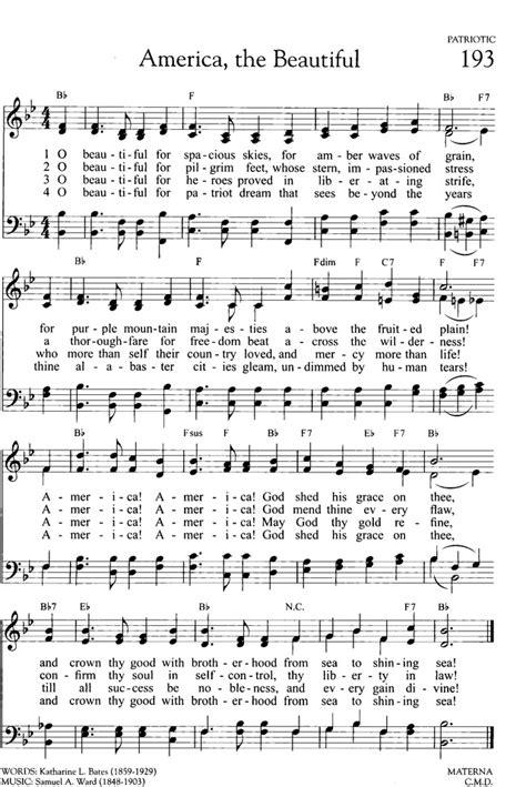 printable lyrics america the beautiful america the beautiful hymnary org