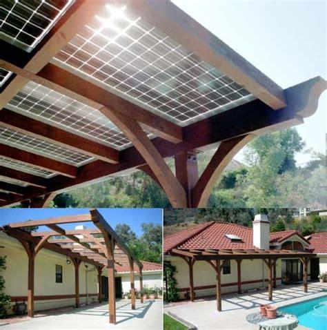 Solar Panels On A Pergola   http://www.ecosnippets.com