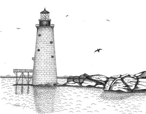 Draw House Plans Online Free graves lighthouse boston drawing by tim murray