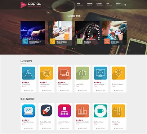 app themes applay wordpress app showcase app store theme leafcolor