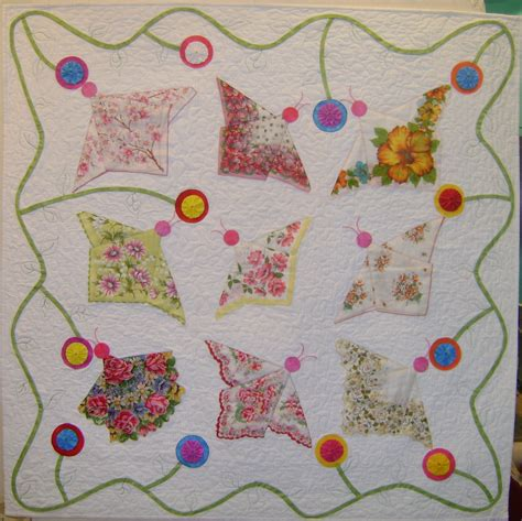 Handkerchief Quilt Pattern by Butterfly Handkerchief Quilt By Berryvintagelinens On Etsy