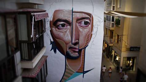 belin pinta  mural de joaquin sabina en la calle mesones